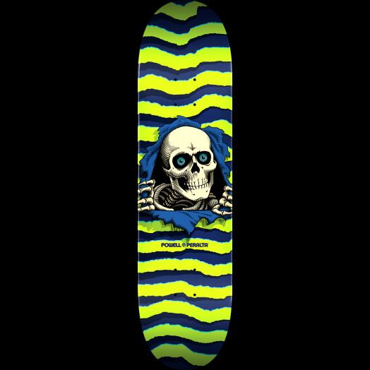 Powell Peralta Ripper Skateboard Deck Lime - Shape 242 - 8 x 31.45