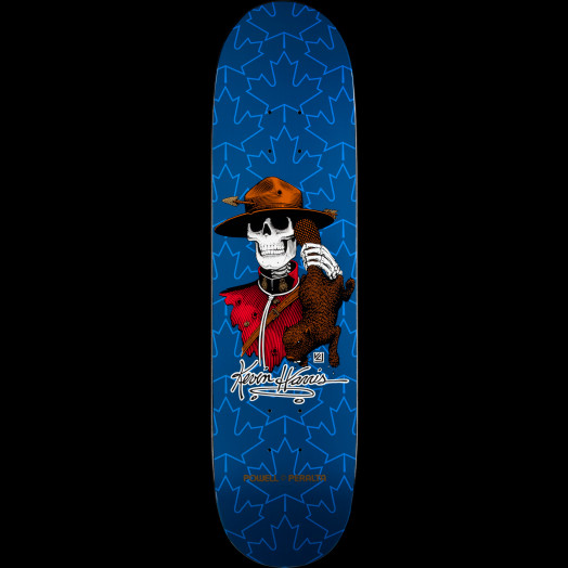 Powell Peralta Kevin Harris Mountie Skateboard Deck Navy - 8 x 31.25
