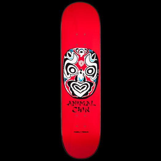 Powell Peralta LIGAMENT Chin Mask Skateboard Deck Red - 8.25 x 32.5