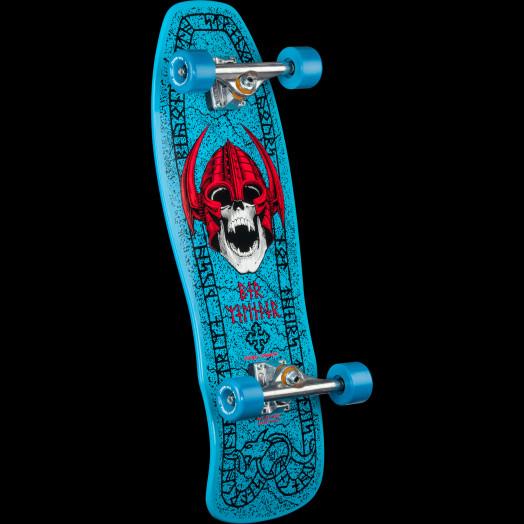 Powell Peralta Welinder Nordic Skull Custom Complete Skateboard Blue - 9.715 x 29.75