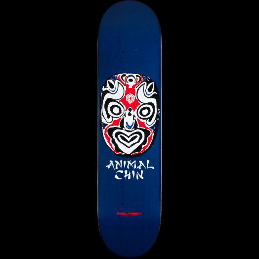 Powell Peralta LIGAMENT Chin Mask Skateboard Deck Navy - 8 x 32.125