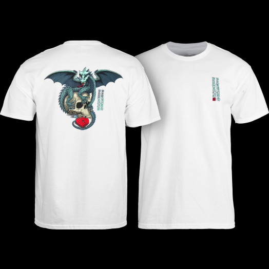 Powell Peralta T-shirt Dragon Skull White
