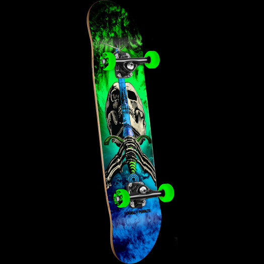 Powell Peralta Skull and Sword Storm Complete Skateboard Green/Blue - 7.88 x 31.67