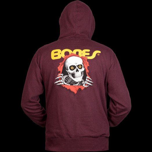 Powell Peralta Ripper Hooded Zip - Burgundy