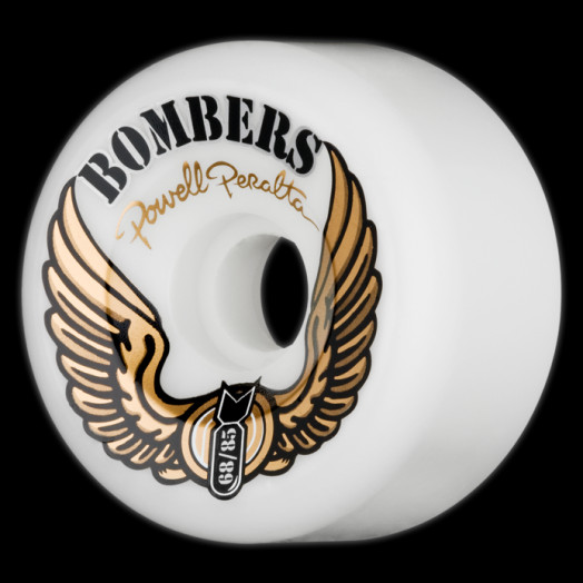 Powell Peralta Bombers 68mm 85a - White (4 pack)