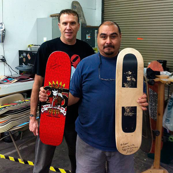 Kevin Harris dropped by the Skate One factory