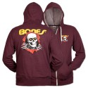 Ripper Zip Hoody, Burgundy