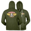 Winged Ripper Zip Hoody, Green