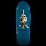 Powell Peralta Ray Rodriguez OG Skull and Sword Skateboard Deck Blue - 10 x 30