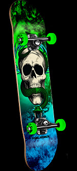 Powell Peralta Skull and Snake Storm Complete Skateboard Green/Blue - 7.625 x 31.625