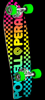 Powell Peralta Checker Cruiser 276 Skateboard Assembly - 8.6 x 27.74