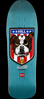 Powell Peralta Frankie Hill Bulldog Reissue Skateboard Deck Blue - 10 x 31.5