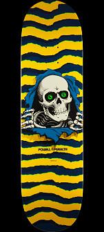 Powell Peralta Ripper Skateboard Deck Yellow - Shape 244 - 8.5 x 32.08