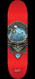 Powell Peralta Pro Mighty Pool Skateboard Deck Red -Shape 243 - 8.25 x 31.95
