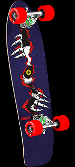 Powell Peralta Ripper Eye Cruiser 273 Skateboard Assembly - 7.35 x 25