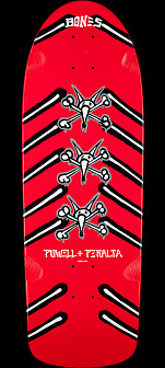 Powell Peralta OG Rat Bones Skateboard Deck Red - 10 x 30