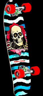 Powell Peralta Ripper WC Cruiser 273 Skateboard Assembly - 7.35 x 25