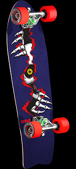 Powell Peralta Ripper Eye Cruiser 276 Skateboard Assembly - 8.6 x 27.74