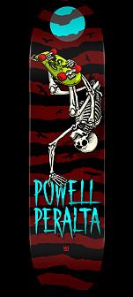 Powell Peralta Handplant Skelly Skateboard Deck Burgundy - 8.25 x 31.95