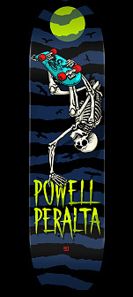 Powell Peralta Handplant Skelly Skateboard Deck Navy - 8.5 x 32.08