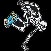 Powell Peralta Skateboarding Skeleton Lapel Pin