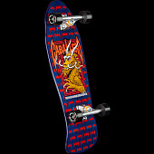 Powell Peralta Cab Dragon and Bats Complete Skateboard Navy - 9.625 x 29.75