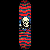 Powell Peralta Ripper Skateboard Deck Red - Shape 243 - 8.25 x 31.95