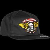 Powell Peralta Winged Ripper Snap Back Cap Black