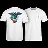 Powell Peralta T-shirt Dragon Skull White