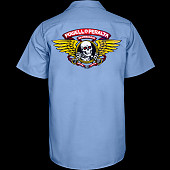 Powell Peralta Winged Ripper Work Shirt - Blue