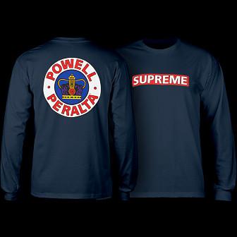 Powell Peralta Supreme L/S Shirt Navy