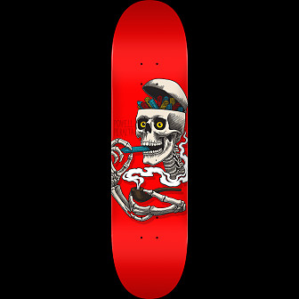 Powell Peralta Curb Skelly Skateboard Deck Red - 8.25 x 31.95
