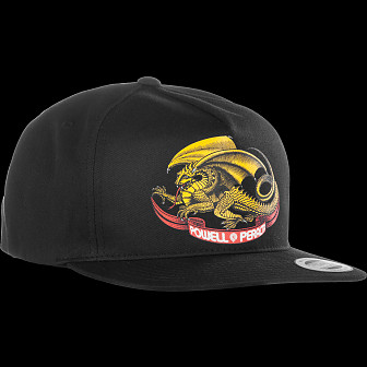 Powell Peralta Oval Dragon Snap Back Cap Black