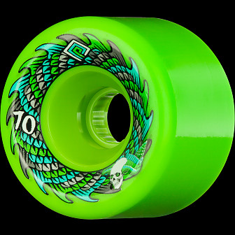 Powell Peralta Soft Slide Offset 70mm 4pk Green Wheels
