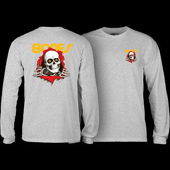 Powell Peralta Ripper L/S Shirt Gray