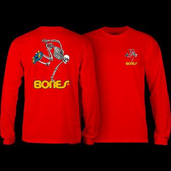 Powell Peralta Skateboarding Skeleton L/S Shirt Red