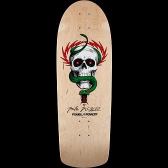 Powell Peralta McGill OG Skull and Snake Skateboard Deck Natural - 10 x 30.125