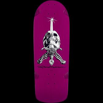 Powell Peralta Rodriguez Skull and Sword Deck Purple - 10 x 28.25
