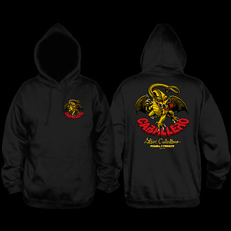 Powell Peralta Steve Caballero Dragon Hooded Sweathshirt Black