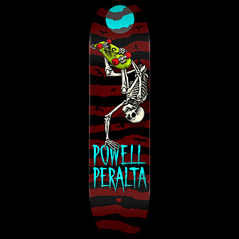 Powell Peralta Handplant Skelly Skateboard Deck Burgundy - 8.25 x 31.95