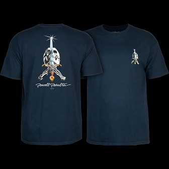 Powell Peralta Skull & Sword T-shirt - Navy