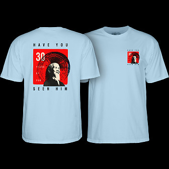Powell Peralta Animal Chin 30 yrs. Light Blue T-shirt