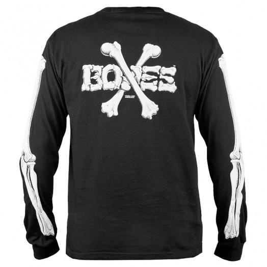 Powell Peralta Cross Bones Black Long Sleeve Shirt