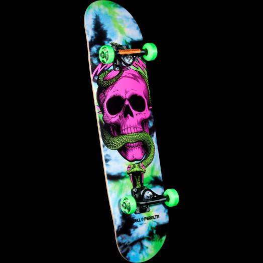 Powell Peralta Skull and Snake Complete Skateboard Tie Dye - 8 x 32.125