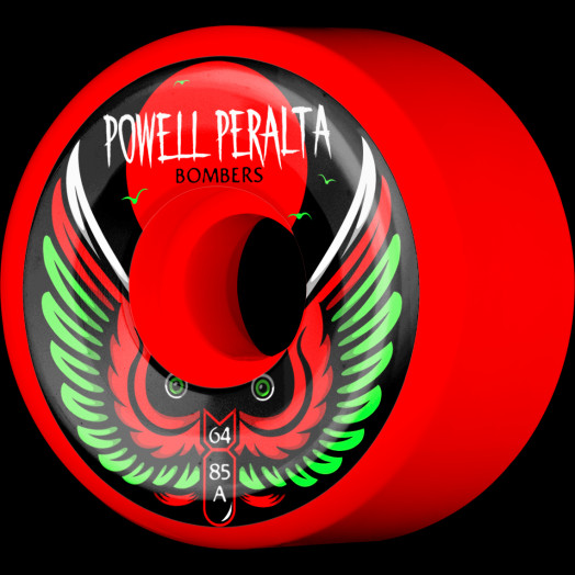 Powell Peralta Bomber Wheel 3 red 64mm 85a 4pk