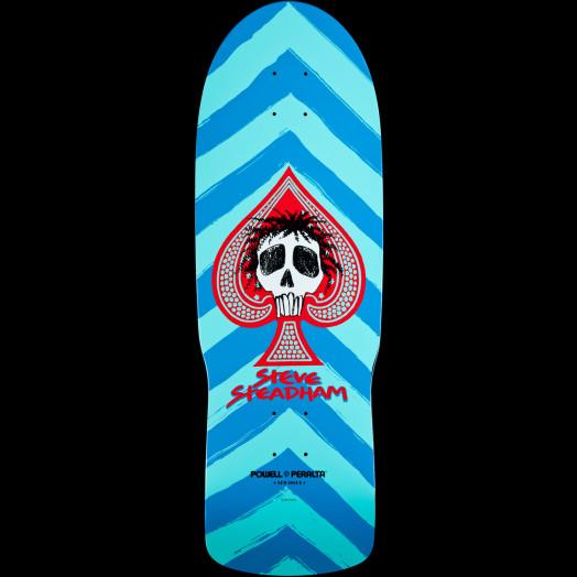 Powell Peralta Steve Steadham Skull and Spade Skateboard Deck Aqua/Blue - 10 x 30.125