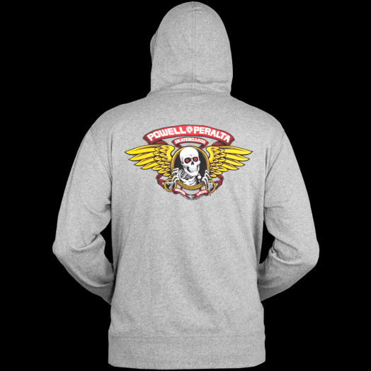 Powell Peralta Winged Ripper Hooded Zip - Gray