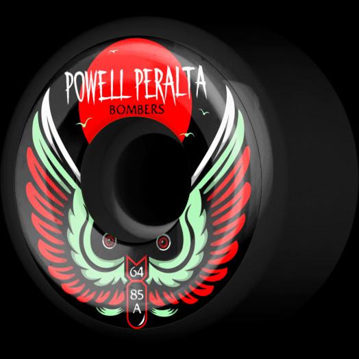Powell Peralta Bomber Wheel 3 Black 64mm 85a 4pk
