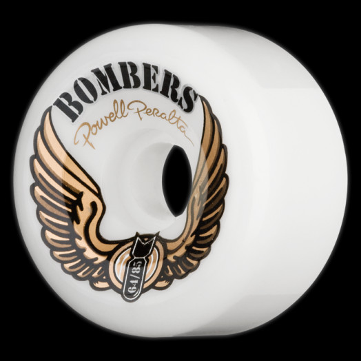 Powell Peralta Bombers 64mm 85a - White (4 pack)
