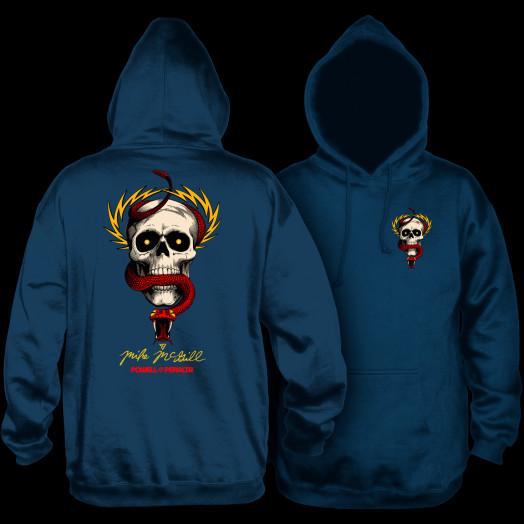 Powell Peralta McGill Skull and Snake Hooded Sweatshirt Navy